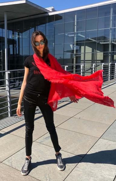 Cashmere Schal Chili Red