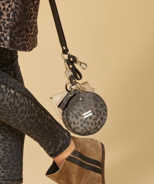 Keychain Bag leopard camo desert taupe