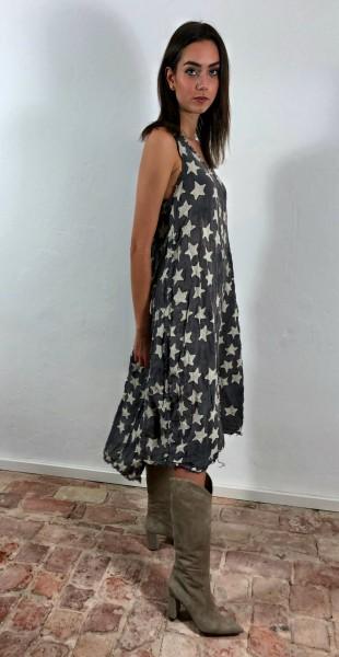 Linen Hand Stitched Star Laya Tank Dress Wish