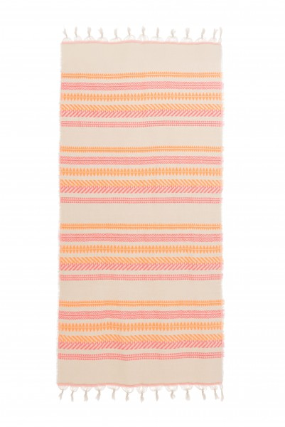 Towel Pink/Neon Orange