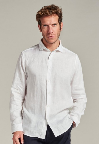 Jagger Shirt Linen White