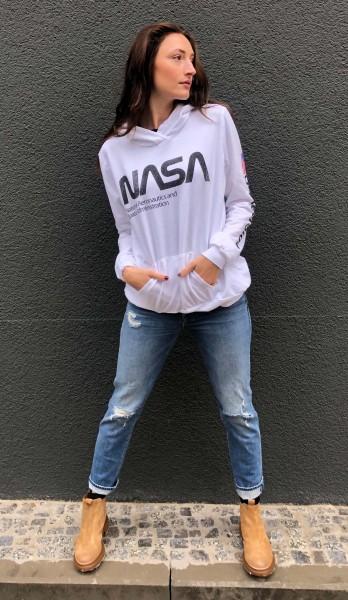 NASA oversized Hoodie white