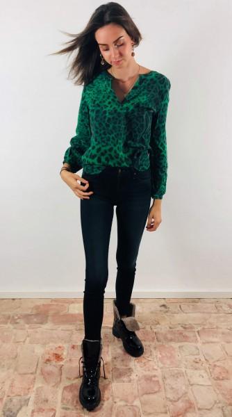 Blouse Green Leo Silk