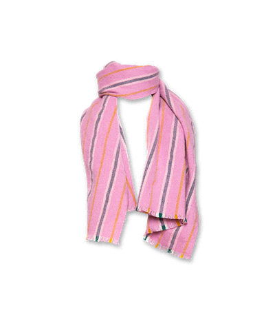 Mabel Scarf soft check pink