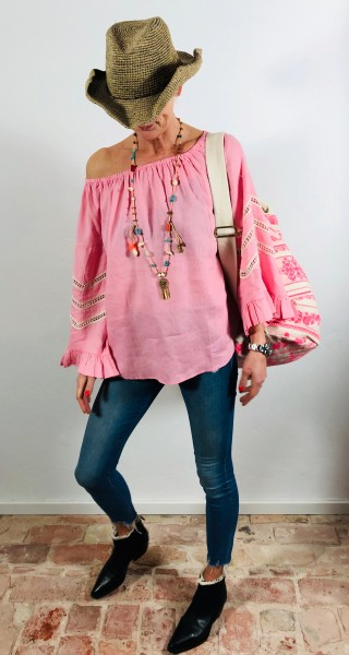 Blouse Pink Lace