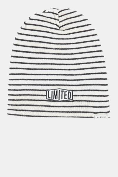Hat off white/grey Striped