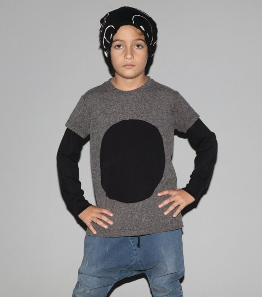 Circle Patch T-Shirt Charcoal