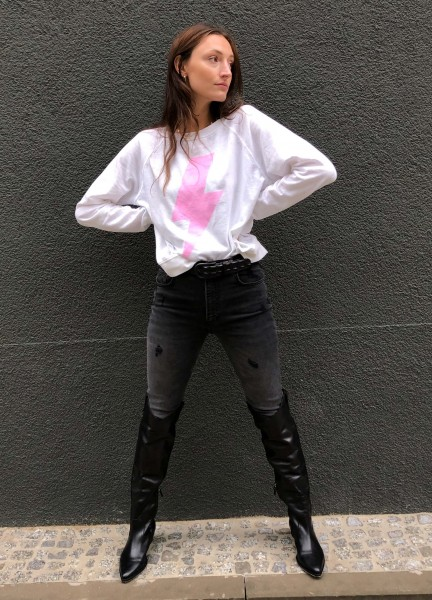 ACDC Pink Bolt Sweater