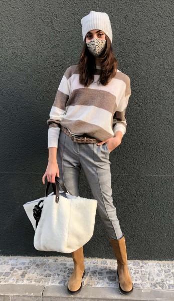 Sweater Stripes ecru