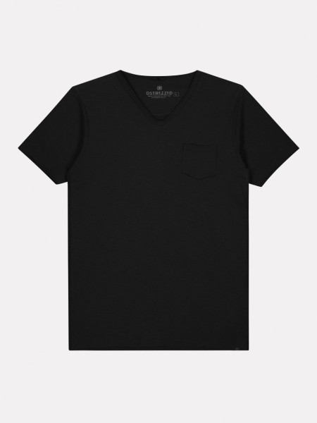 Basic T-Shirt Stewart V-Neck Dark Navy
