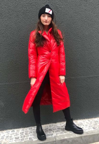Daunen Trenchcoat Red