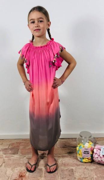 Sweatdress Pink/Aprico Shell
