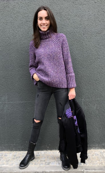 Jumper Krista Purple Mouliné