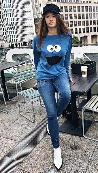 Darby Vintage Pollover Cookie Monster