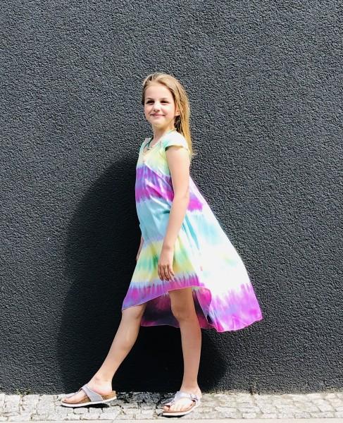 Kidsdress Yellow/Mint/Pink