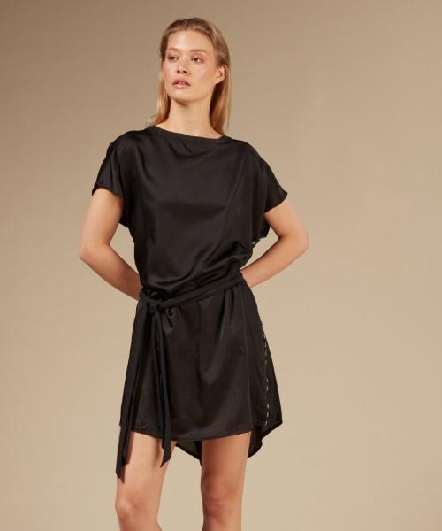 A-Line Dress Silk black