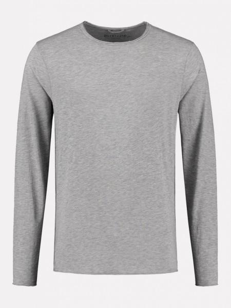 Basic Longsleeve Newmann grey Melange