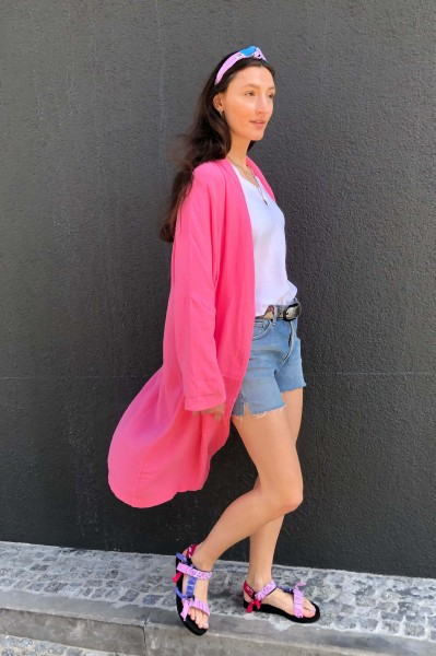 Cardigan Crinkle candy pink