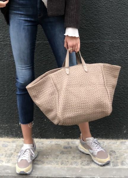Handbag le Sac Tressé Sand