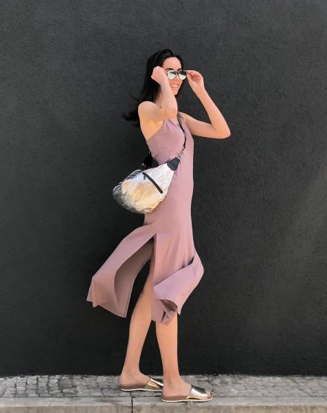 Wrapper Dress Jersey dust pink