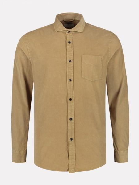 Shirt Cut away collar Babycord khaki