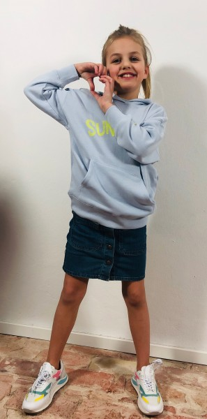 Hoodie Sweater Sunkissed light blue