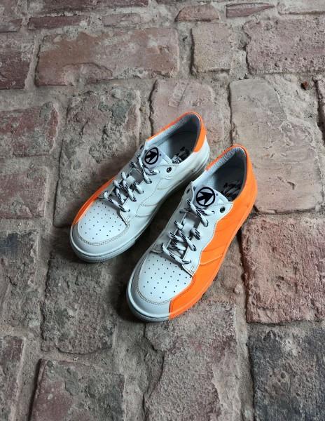 Emma Sneakers Bianco Fluo Arancio