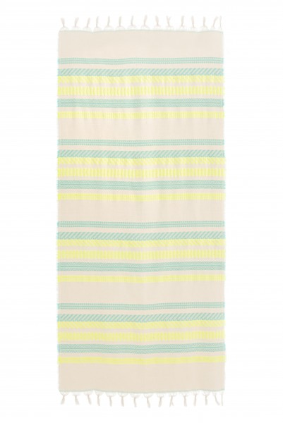 Towel Blue/Neon Lime