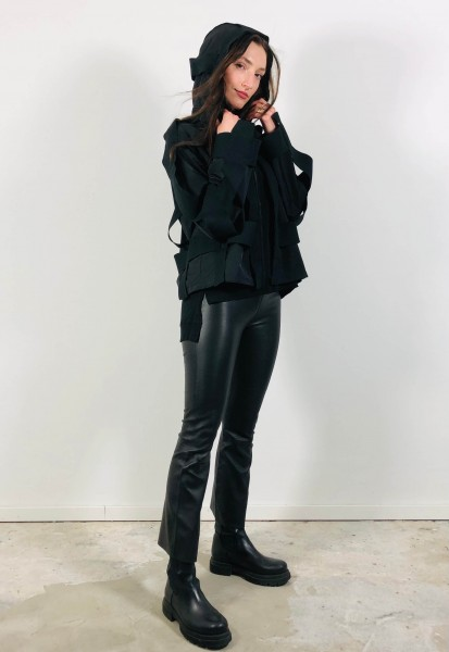 Nylon Jacket with Details black