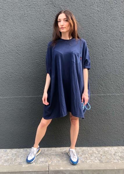Pocket Tee Dress Ocean Blue