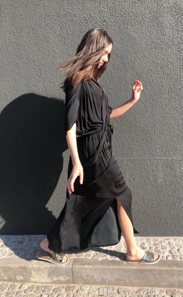 Dalia Dress Viscose black
