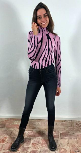 Vivienne Top Zebra Black/Pink