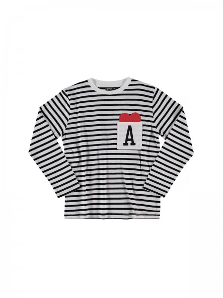 LOVE POCKET TEE - stripes