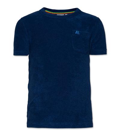 T-Shirt Pocket Eponge washed blue