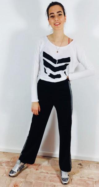 Yann Broken Logo Tee White/Black
