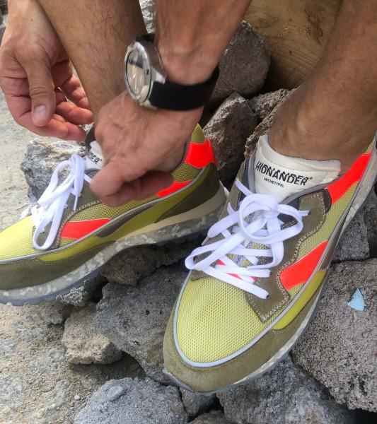 3Dome Acid Green/Fluo Red Herren Sneaker