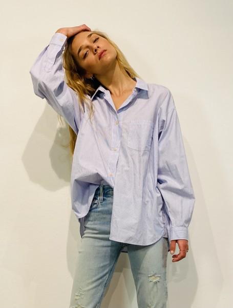 Blouse oversized Stripe blue/white