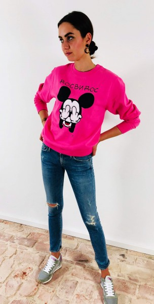 Sweatshirt Mickey pink