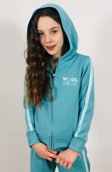 Girl's Basic Hoodie Light Turquoise