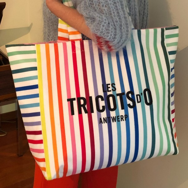 Towelling Bag with Les Tricots d'O Logo