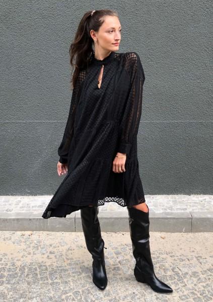 Dress Darcya Kufiya Embroidery Black