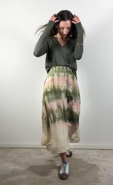 Flor Skirt Army