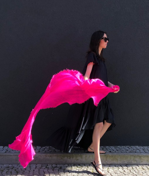 Cashmere Schal Neon Pink