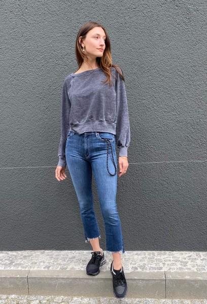 Crop Sweatshirt Vintage Black
