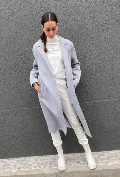 Scuba Coat light grey melee