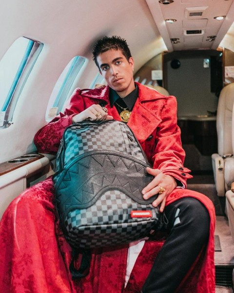 Henny Black Checkered Sharkmouth Backpack