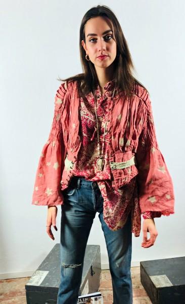 Europea Linen Elisabeta Waist Coat Rosie