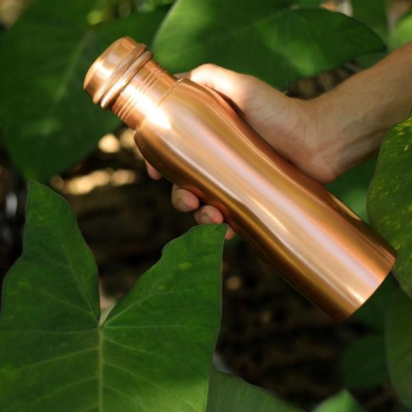 Kupferwasserflasche 900ml Curve Matt