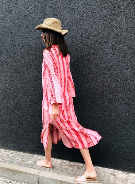 Despo Long Kaftan Red Pink