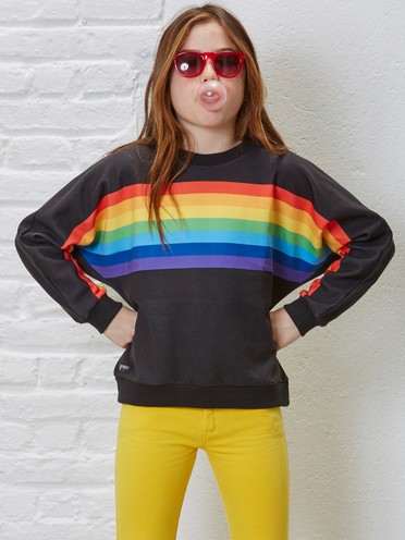 Rainbow Poncho Sweat Black